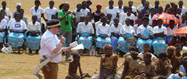 Stuart Murray Mitchell plays Dr Livingstone in the 200th anniversary celebrations of Dr Livingstone's birth in Blantyre, Malawi